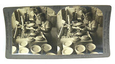 Keystone Stereoview Card - Shaping Plates on a Potters Wheel - P148