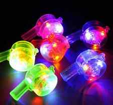 20 pcs Light up whistle Flashing Blinking necklace lanyard  rave goody bag