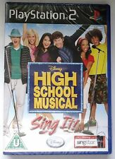 Disney High School Musical: Sing It! PS2 SOLUS Juego Nuevo Y Sellado Original