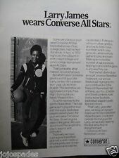 "1973 Converse Ad-8.5 x 10.5""-Converse All Stars-Larry James-Hyde Park High"