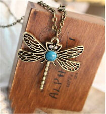NEW Retro Personality Pierced Dragonfly Necklace Sweater Chain Wholesale