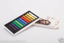 12 Colored Square Pastels, 12 Count Temporary Hair Color stick Soft Pastel Chalk