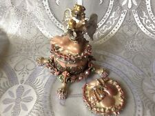 Kirks Folly Sea Fairy Angel With Child Candle Holder Trinket Box On Stand