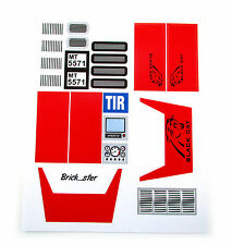 Custom 'Pre-Cut' stickers for LEGO 5571 Giant truck ,toys, models, etc