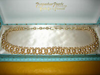 """POMPADOUR PEARLs NECKLACE BOXED, HOOK AND EYE FITTING,long 16"""" approx (0.2/H2/4)"""