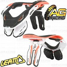 Leatt 2014 GPX 5.5 Neck Brace Protector Orange White Large Extra Large Motocross