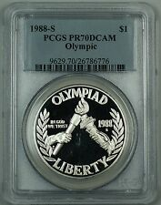 1988-S Olympic Silver Dollar Commemorative Pcgs Pr-70 Dcam Perfect Gem Coin