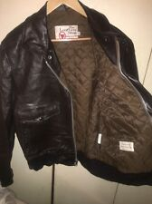 VTG SEARS THE LEATHER SHOP BROWN Leather Bomber Flight Jacket A2 G1 SZ 40R MINT