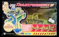 Transformers Generation 2 Excavator -  Modellino Anni '80 Originale in Scatola