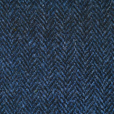 Medium Blue and Dark Blue Herringbone Harris Tweed - 2.50 Mtrs