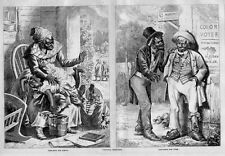 VIRGINIA NEGROES COLOR VOTERS CANVASSING FOR VOTES BLACKSMITH SHOP KIDS SPANKED