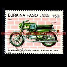 JAWA Twin - BURKINA FASO : Timbre Poste Moto