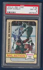 GUMP WORSLEY NHL ACTION 72-73 O-PEE-CHEE 1972-73 NO 189 PSA 8  5663