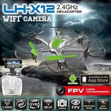 LH-12WF 2.4GHz 6 CH 6 Axis GYRO Hexacopter FPV w/ Camera iOS/Android App Drone