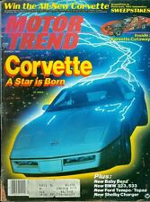 1983 Motor Trend Magazine: Corvette- A Star is Born/Baby Benz/BMW 323, 533/Tempo