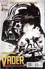 STAR WARS: VADER DOWN #1 B&W Signed Mike Mayhew Variant Cover