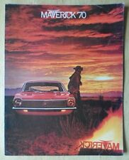 FORD MAVERICK orig 1970 USA Mkt sales brochure