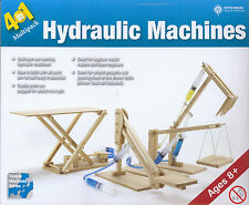 Build 4 Wooden Hydraulic Machines: Scissor Lift, Platform Lifter, Cherry Picker