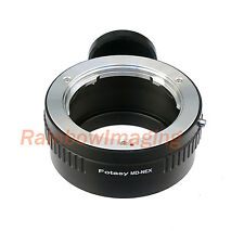 Adapter 4 Minolta MD Lens to Sony NEX-5R NEX-5T NEX-6 NEX-7 NEX-F3 Tripod Ring