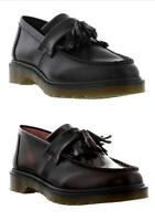 Dr Martens Adrian Mens Black Leather Tassel Loafer Shoes