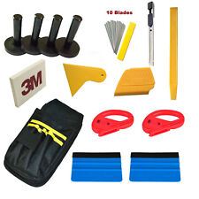 Car Vinyl Wrapping Application Tools Bag Kit 3M Squeegee Cutter Wrap Magnet