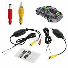 2.4G Wireless Car Camera Video Rear View Transmitter Receiver Vehicle RCA 12V UK