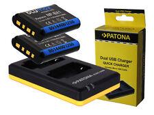 2 x Akku + Dual-Ladegerät für Sony Cyber-Shot DSC-HX400 / DSC-HX400V - NP-BX1