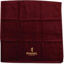 BROWNING LOGO BURGUNDY HAND TOWEL CARP FISHING ACCESSORY 100% COTTON