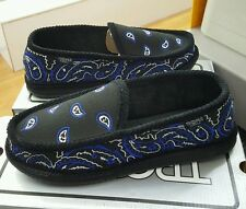 BANDANA HOUSE SHOES TROOPER   BLACK/WHITE/ROYAL   MEN'S US SZ 11