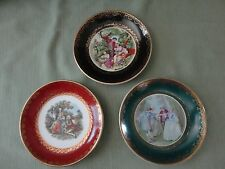 3 Stunning Vintage Occupied Japan Small Plate Ring/Trinket Dish, Hanging Plates