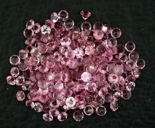 EIGHT 2.5mm Faceted Round Pink Tourmaline Gemstone Gem Stone Natural