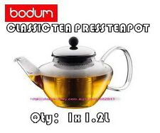 IN BOX BODUM CLASSIC TEA PRESS TEAPOT WITH STAINLESS STEEL FILTER. 1.2L