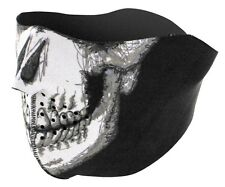 ZAN HEADGEAR HALF MASK WITH REVERSIBLE SKULL PATTERN NEOPRENE FACE MASK