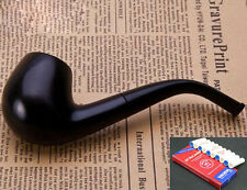 Ebony Wood High Quality Tobacco Smoking Pipe &Pouch &Stand &10 Pipe Filters 508B
