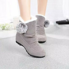 Women Fashion Ankle Boots Winter Flats Casual Shoes Warm Suede Shoes Lot USPS