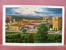 Postcard MO Kansas City Country Club Plaza at Night