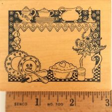 Rubber Stamp PSX F-378 food label plates pie rolling pin Country Kitchen New