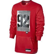 Nike Air 92 Crewneck Sweatshirt Red Black Grey Sz 2XL 802640-657