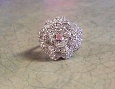 DIMONIQUE AND STERLING SILVER ROSE RING SIZE 7