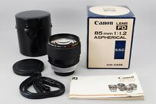 【Rare!! in Box】Canon Lens FD 85mm f/1.2 S.S.C. ASPHERICAL w/Case From JAPAN#1825