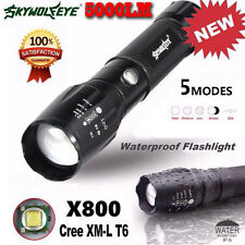 5000LM Power Tactical LED Flashlight X800 Zoom Super Bright Military Light Lamp
