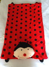 Ladybug Black Red Polka Dot Pillow Pet Blanket Sleep Nap Mat Plush Toy Throw