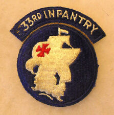1950'S 33RD INF RCT ONE PIECE W/ INTRIGAL TAB WHITE BACK CE A REALLY NICE PIECE
