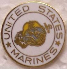 Hat Lapel Push Tie Tac Pin USMC Marine Corps Bulldog and Anchor NEW