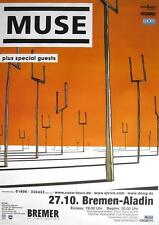 "MUSE TOUR POSTER / KONZERTPLAKAT ""ORIGIN OF SYMMETRY TOUR BREMEN"""