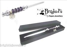 Pagan Athame With Deep Purple Faceted Crystal  and Pentagram - Made to Order