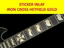 STICKERS INLAYS IRON CROSS HETFIELD GOLD DECAL FRET MARKERS VISIT MY STORE