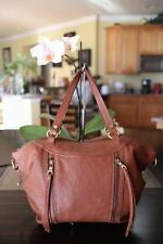 LUCKY BRAND Tan Pebbled Leather Satchel Shoulder Bag (P400
