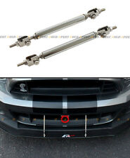 Chrome Front Bumper Lip Splitter Strut Rod Tie Bar For Acura Integra TSX RSX DC