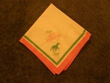 VEGAS LAST FRONTIER CLOTH NAPKIN VINTAGE EARLY OLD STRIP HOTEL CASINO